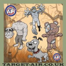Zombie Four Fun Cartoon Characters - Airsoft BB Gun Shooting Targets